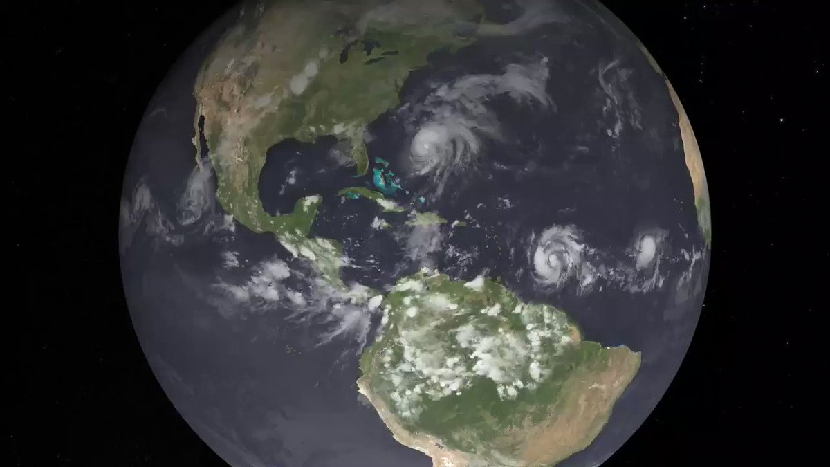At night, Earth is lit up in bright strings of roads dotted with pearl-like cities and towns as human-made artificial light takes center stage. During Hurricane Maria, Puerto Ricos lights went out. More info: svs.gsfc.nasa.gov/4658