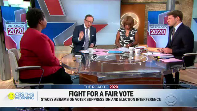 """Voter fraud is a myth. It does not exist… but voter suppression is real."" -- @staceyabrams"
