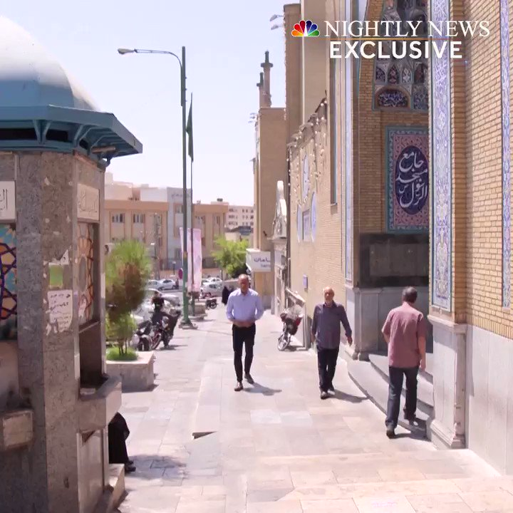 TONIGHT: @LesterHoltNBC reports from Tehran, where he's speaking to senior government officials and ordinary Iranians as tensions grow with the United States.  Watch at 6:30 ET / 5:30 CT on NBC (check your local listings). https://t.co/Sg2frPAXcu