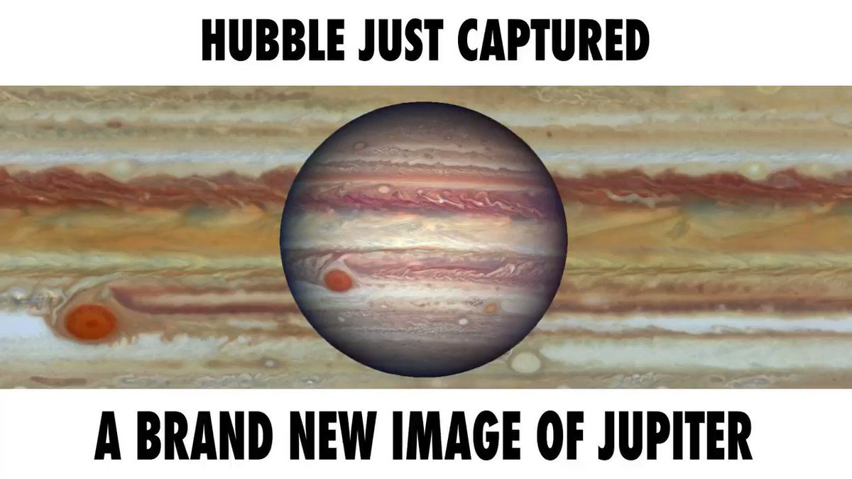 A brand-new @NASAHubble observation is teaching us more about Jupiter's Great Red Spot ... watch this video to see how: