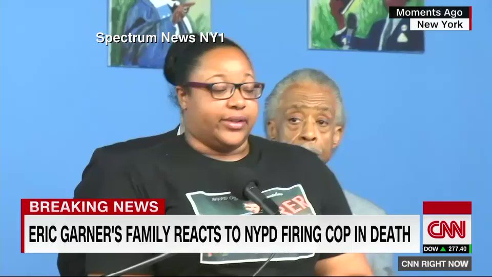 """""""Eric Garner was killed five years ago. It took five years for the officer to be fired. I don't want another Eric Garner,"""" says one of his daughters, Emerald Garner, after the firing of NYPD officer Daniel Pantaleo. https://t.co/2yCV0s6rPc https://t.co/ijoSsxKHzY"""