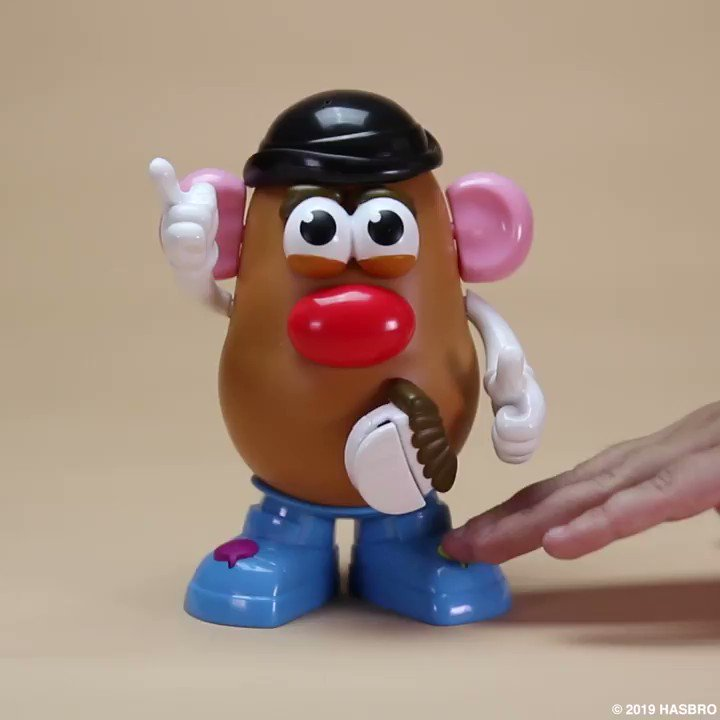 Happy National Potato Day from Mr. Potato Head Movin Lips himself 🥔 🥔 🥔 #Hasbro #Potato #MrPotatoHead #MovinLips #Mustache #Vintage #HasbroToyPic