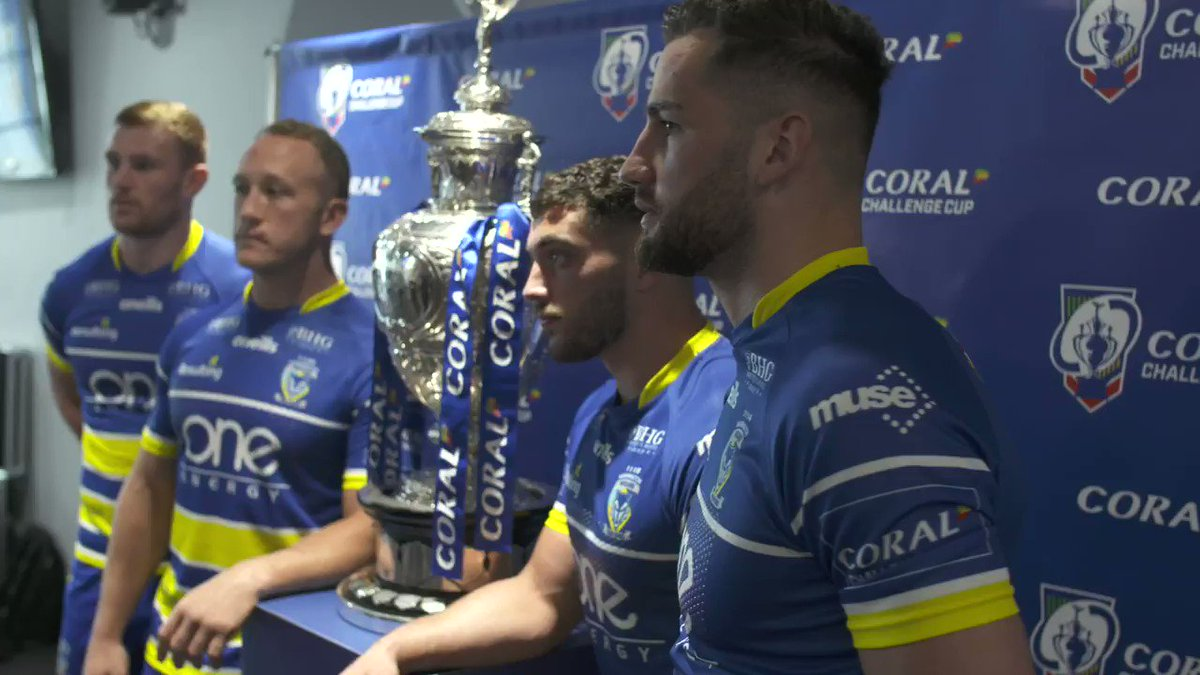 Its set to be a huge occasion at Wembley, @JaceClark013 of @WarringtonRLFC is buzzing to step out on Saturday in the Coral @TheChallengeCup final This is what I came here for, these experiences, for my family to enjoy it as well has been awesome 💛🔵