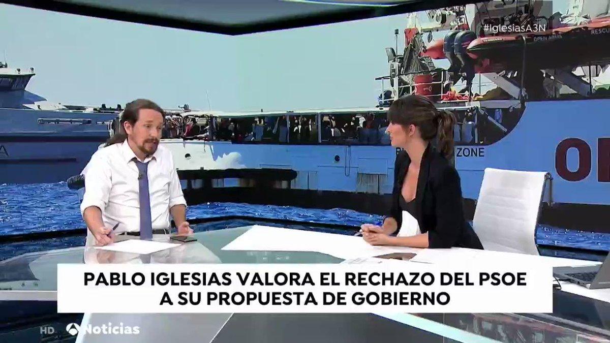 📺 ¿Por qué esto que se ha hecho ahora no se hizo hace 15 días? Si se hubiese hecho entonces, tendríamos a esas personas cuidadas y al Open Arms en un puerto español, no como ahora que parece que les van a detener a todos en Italia. @Pablo_Iglesias_ #IglesiasA3N