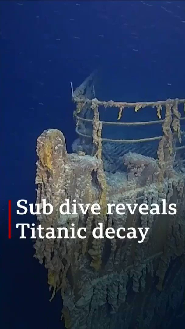 Titanic is returning to nature Parts of the wreck are now deteriorating rapidly [Tap to expand] bbc.in/2zewfni