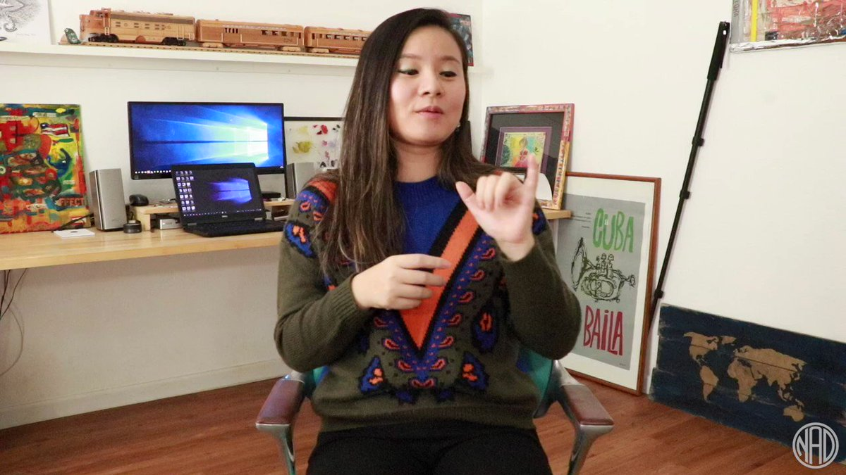 Introducing our new weekly #DeafAtWork series! Meet Yan! Can you imagine playing a numbers game while working? Well, Yan does because shes in accounting! #DeafAtWork