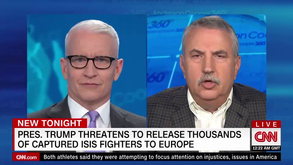 ".@tomfriedman: ""The idea that we would have an American President who thinks it's in our interest to break up the European Union so he can somehow strike better trade deals with them, it's flat out nuts.""""He has no idea of why the world is the way it is."""