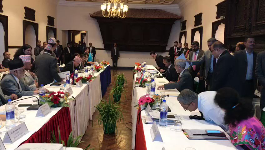 5th Meeting of #IndiaNepal Joint Commission successfully concludes in Kathmandu. Entire gamut of bilateral relations reviewed in meeting, both sides expressed happiness over progress made in various projects.