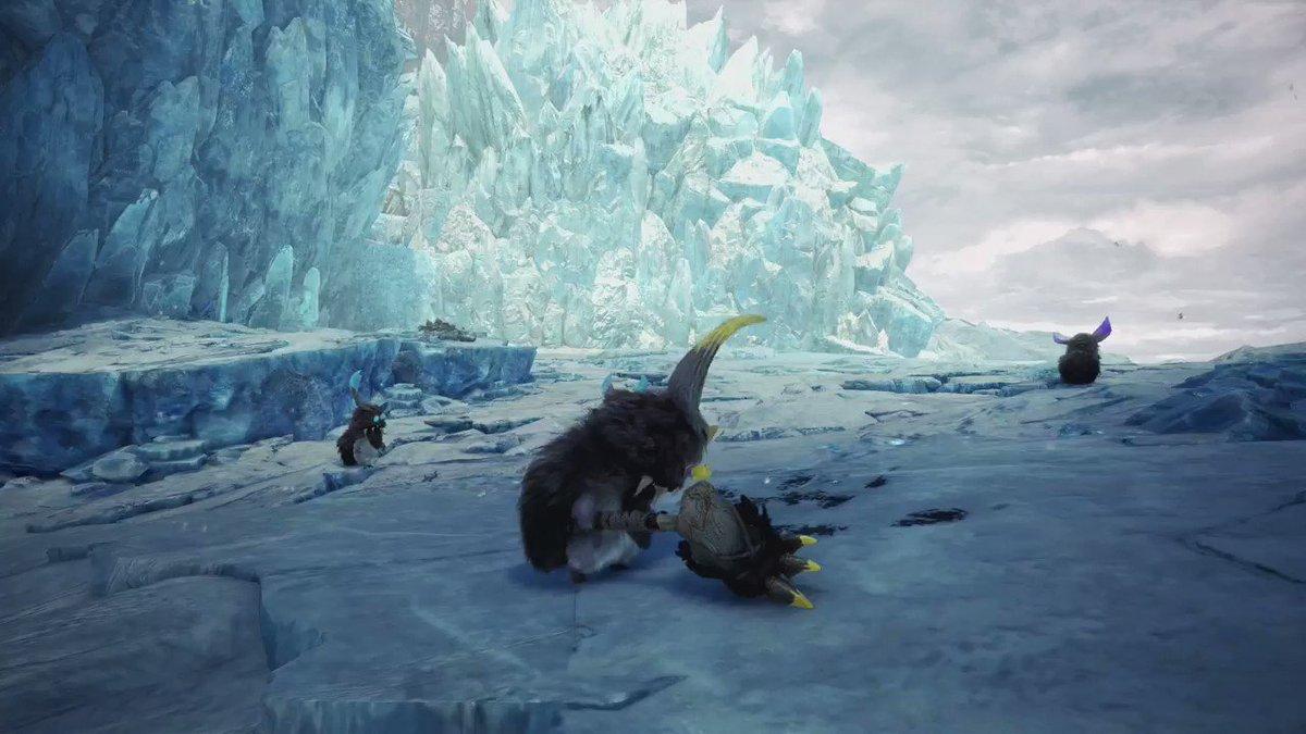 「渡りの凍て地」に新たな獣人族「ボワボワ」が登場!『モンスターハンターワールド:アイスボーン』9月6日(金)狩猟大解禁!#MHWアイスボーン
