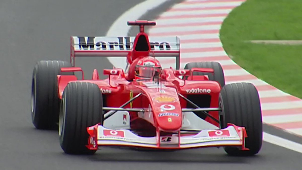 It's #ThrowbackThursday!  Turn up your sound🔊 and watch @schumacher's 2002 #BelgianGP pole lap!🇧🇪