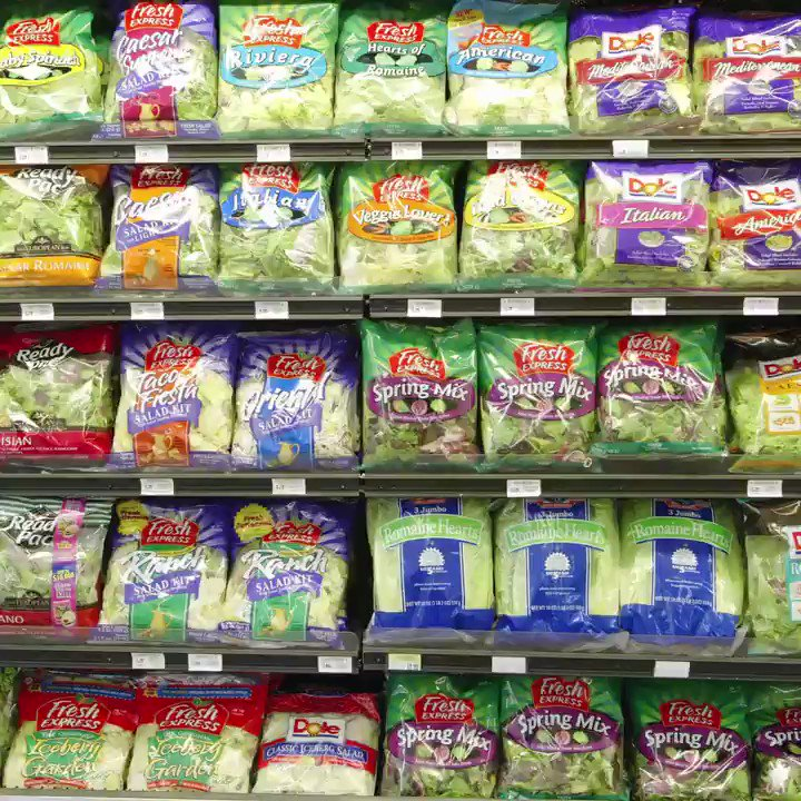 How safe is it to eat bagged salad greens?