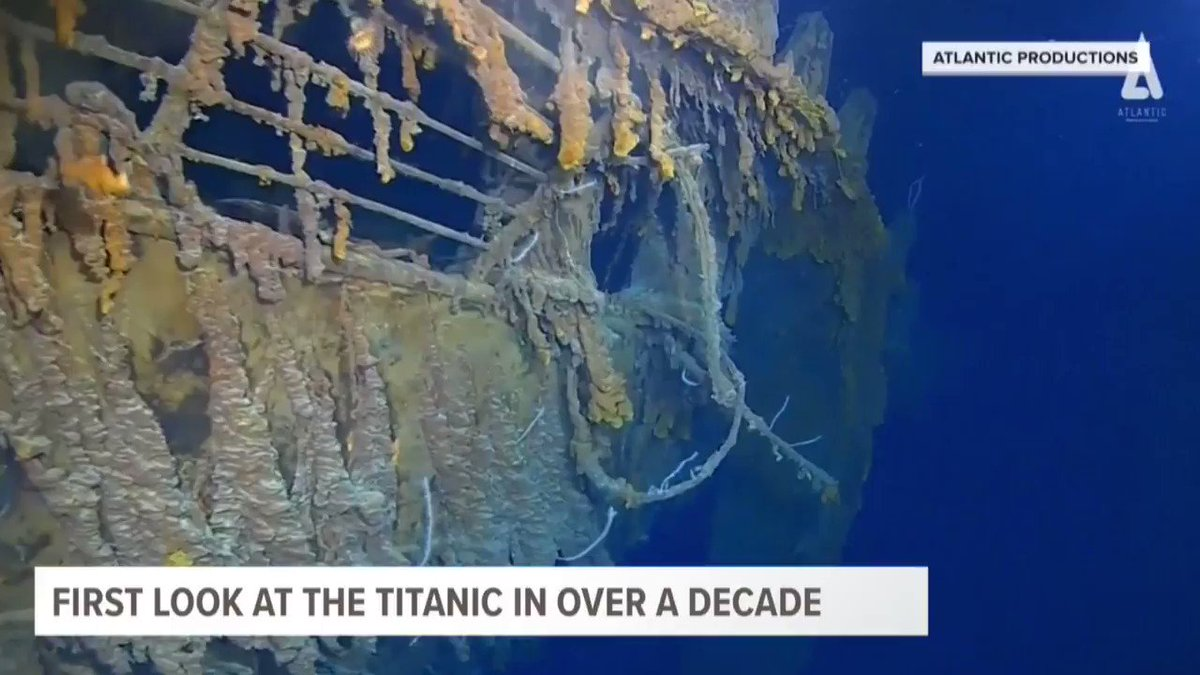 New photos and videos show the current condition of the Titanic...salt water and bacteria have taken a toll on this iconic ship #TODAYinAZ https://t.co/uG0aL8pXQA