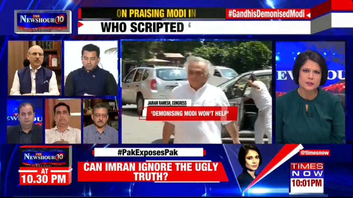 Congress has diverse opinions: @tehseenp, Political Analyst, tells Padmaja Joshi on @thenewshour AGENDA. | #GandhisDemonisedModi
