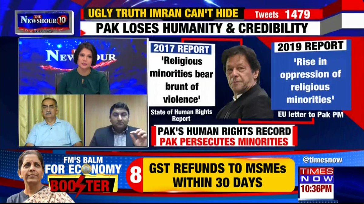 Listen in: @Qamarcheema, Political Analyst puts forth his view on @thenewshour AGENDA with Padmaja Joshi. |#PakExposesPak