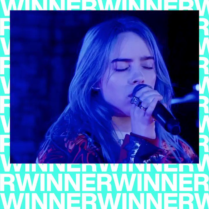 CONGRATULATIONS @billieeilish on winning the #VMA for PUSH ARTIST OF THE YEAR 🏆