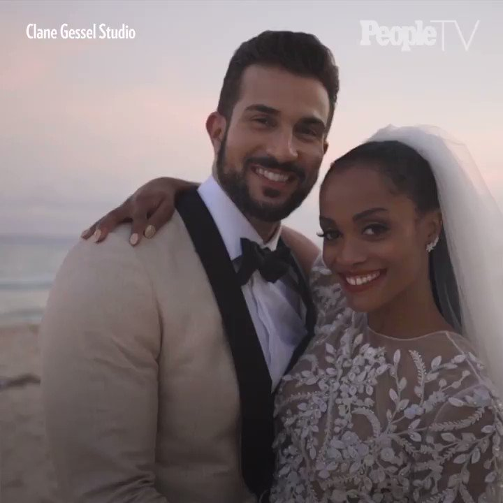 Bachelorette Rachel Lindsay Wore A Crop Top Wedding Dress For Her Big Day