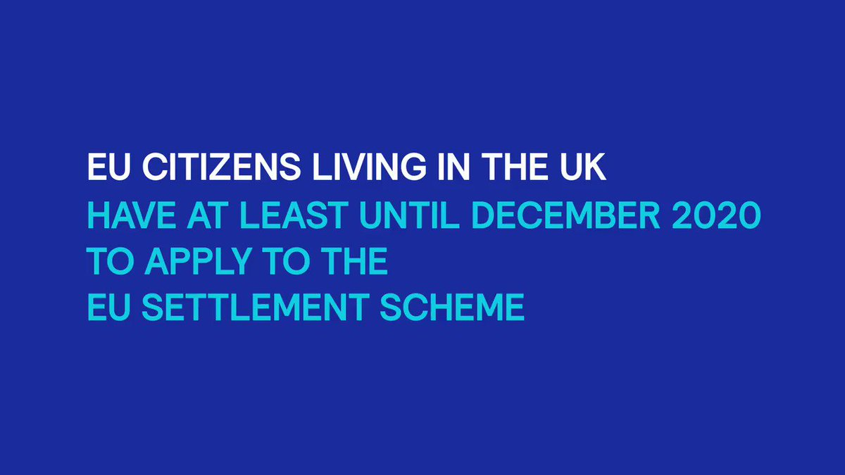 Do you have questions about your EU Settlement Scheme application? #EUCitizens have until at least December 2020 to apply. Call 0300 123 7379 for support. We're open 8am-8pm weekdays and 9:30am-4:30pm on weekends. #SettledStatus #Brexit More here: gov.uk/apply-eu-settl…
