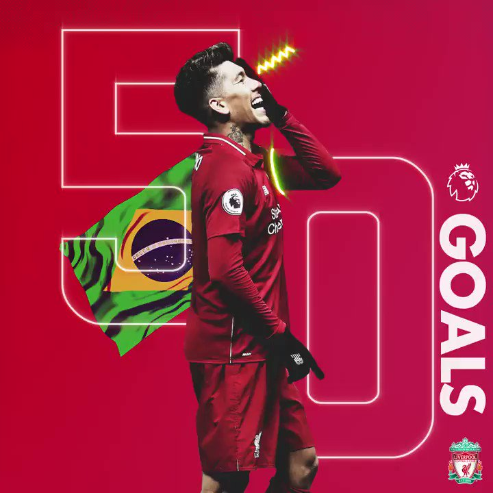 B O B B Y 🇧🇷  The first Brazilian to net 5⃣0⃣ @premierleague goals ⚽️💫 https://t.co/mVmcJLEXLg