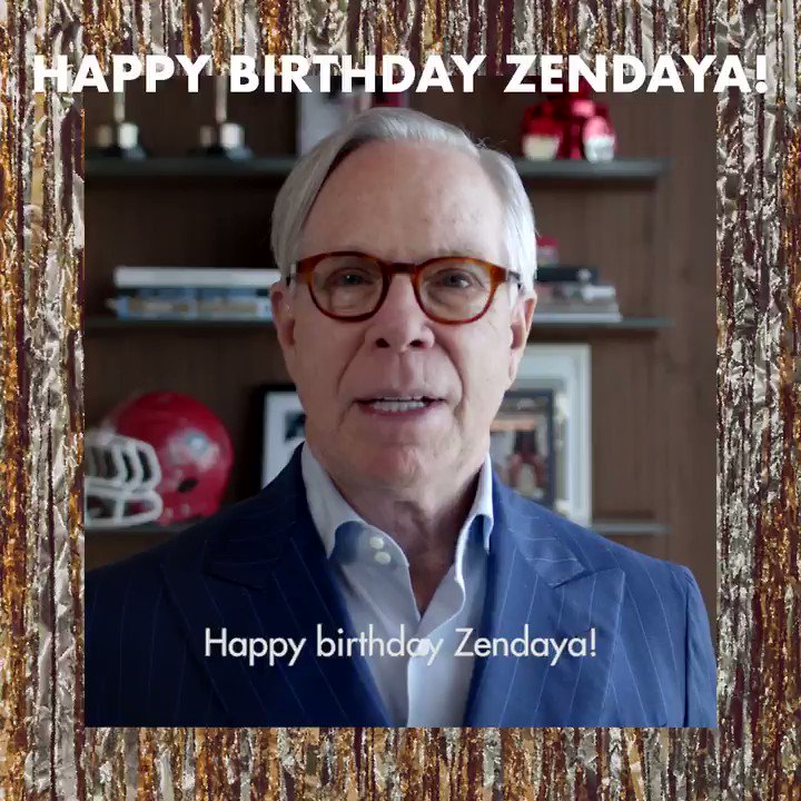 Happy birthday from Mr. Tommy Hilfiger and the whole team!