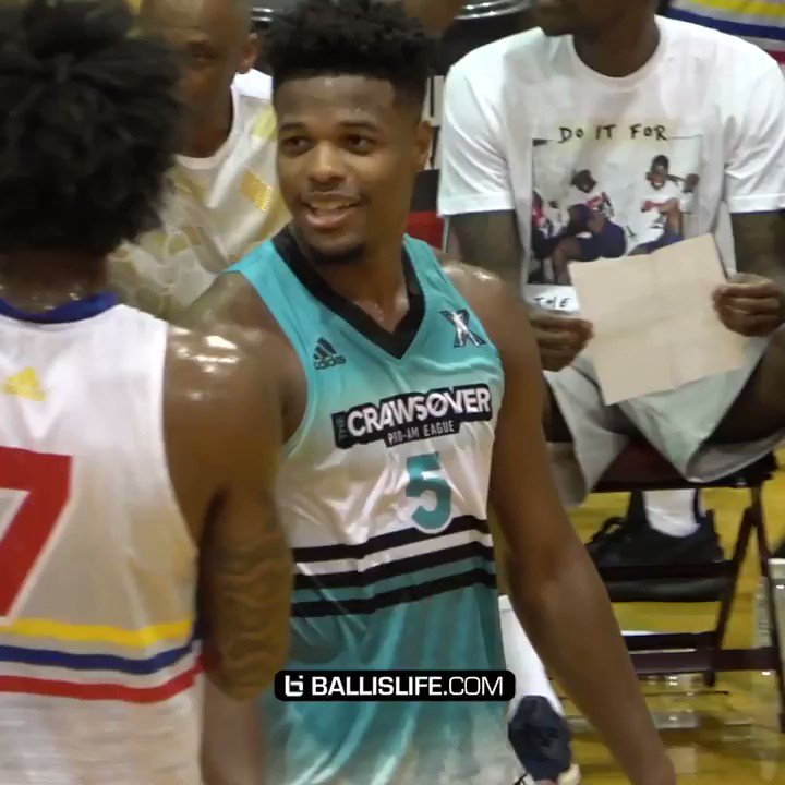 Dennis Smith Jr making 50 points look easy @TheCrawsover championship game!! @Dennis1SmithJr