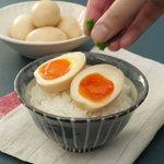 ご飯が進んで止まらない!?「旨辛にんにくみそ味玉」の作り方!