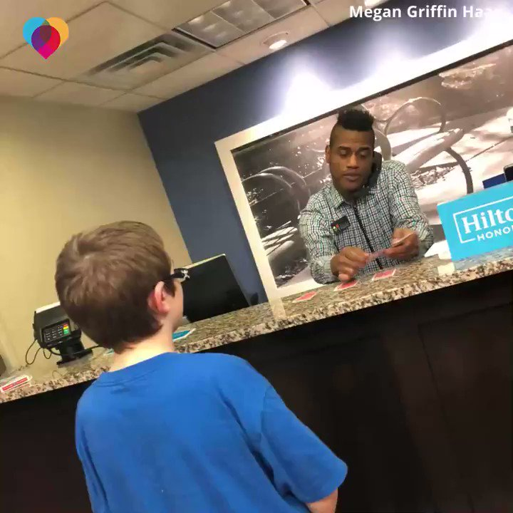 When this 13-year-old with autism asked a hotel employee to do a card trick, he graciously agreed – and then he realized they have a lot more in common than he thought ❤️️ cbsn.ws/2ZwvPbb