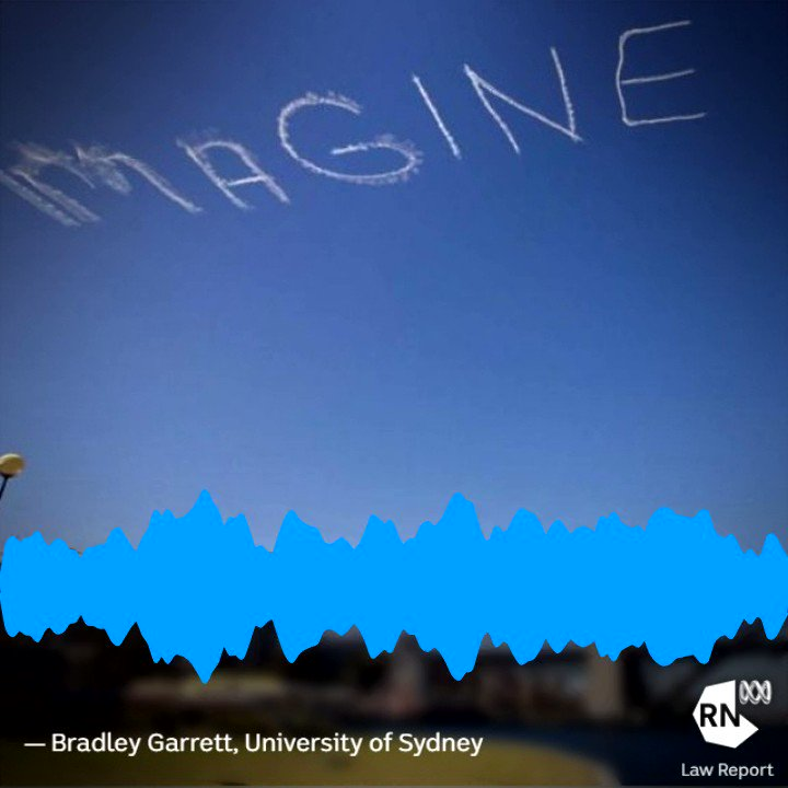Who has a right to post messages in that space? Australia's skies have been the backdrop for political messaging. @Goblinmerchant says it opens up interesting legal questions. Hear more on @LawReportRN abc.net.au/radionational/… @damien_carrick