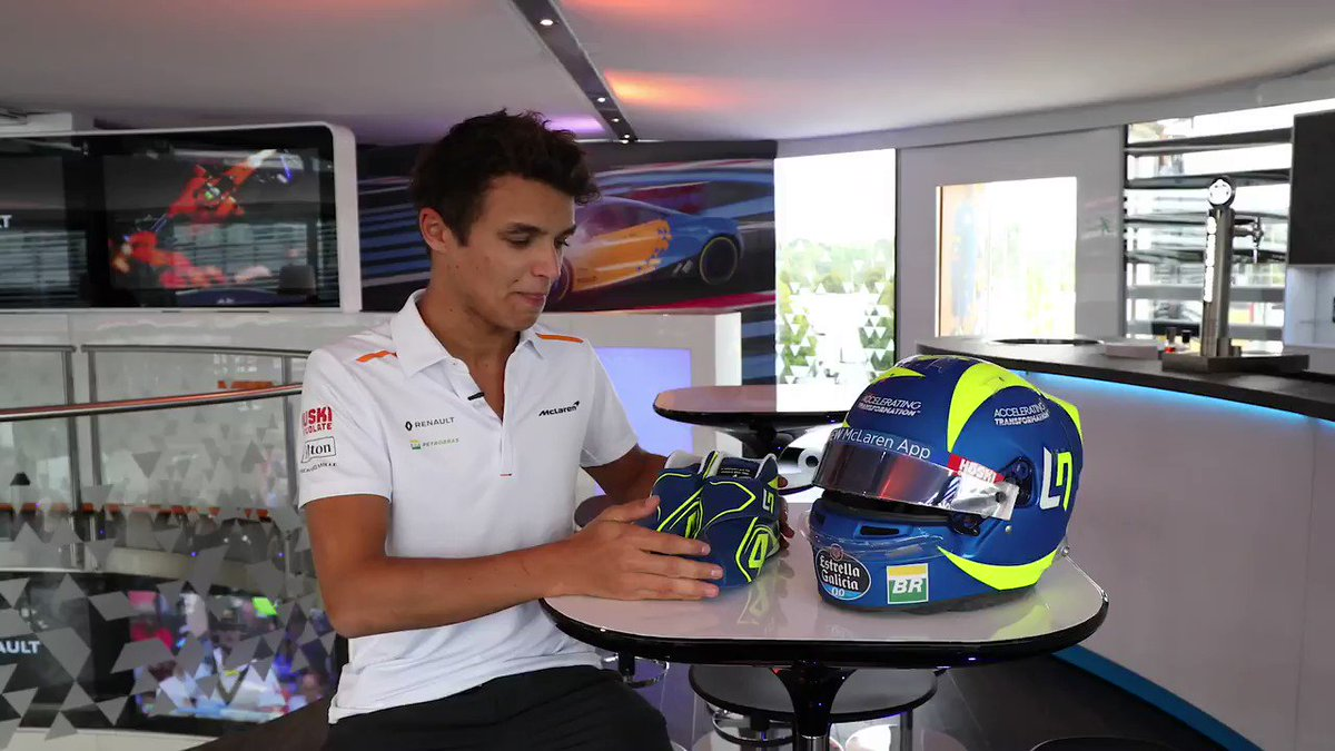 You've probably heard enough about my @ValeYellow46 helmet, but just incase you haven't, here's a video of me talking about it 😎🇮🇹 #ItalianGP