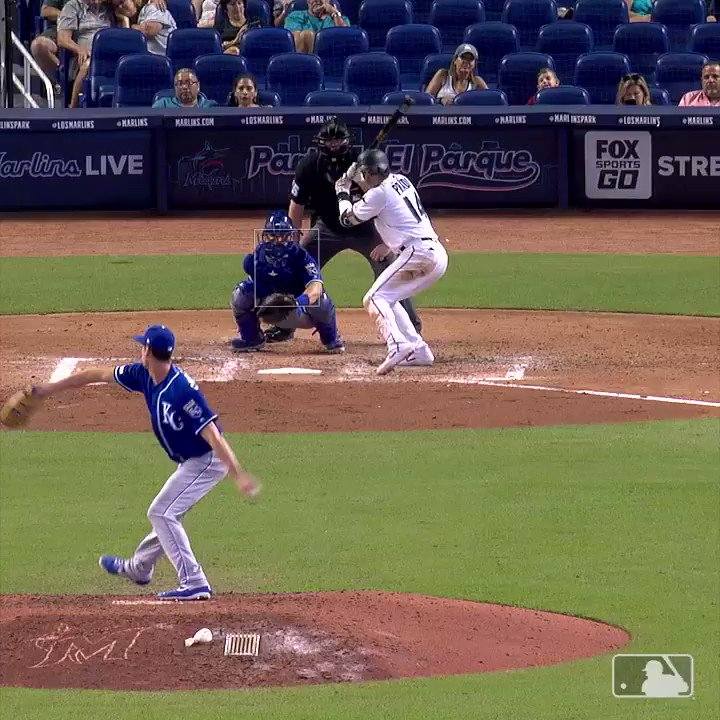 Marlins fan catches two foul balls in same at-bat