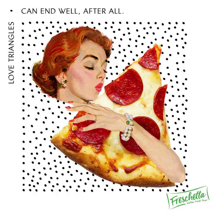 Image for the Tweet beginning: A love affair with pizza
