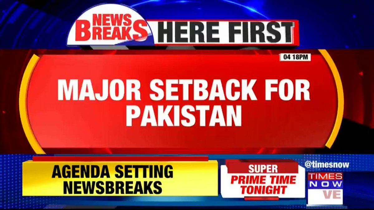#Breaking | Major setback for Pakistan. US imposes sanctions on individuals from 11 terrorist groups including Tehrik-i-Taliban Pakistan.Listen in to the details given by TIMES NOW's Pradeep Dutta.