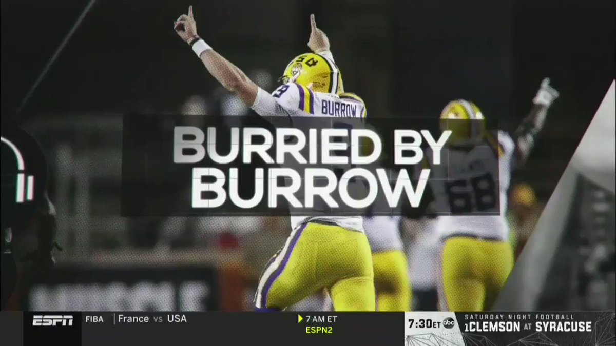 .@Joe_Burrow10 was on with @notthefakeSVP talking LSU-UT and more! 📺 @ESPN