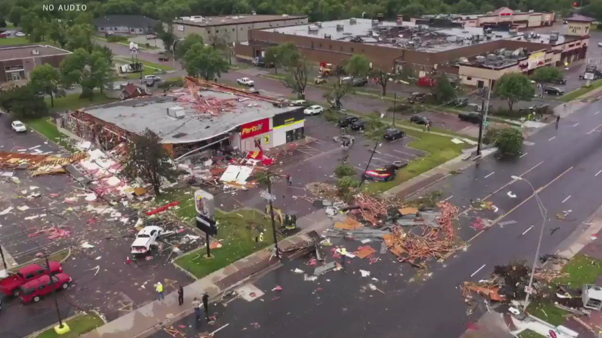 A tornado struck Sioux Falls, South Dakota, late Tuesday, causing significant damage to around 37 buildings and power losses to thousands of households and businesses, officials say. https://nbcnews.to/2ksaDA5
