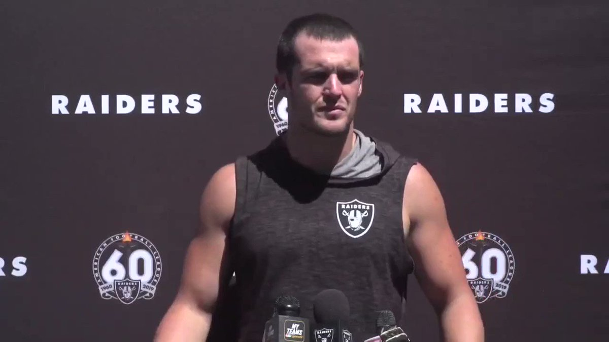 'He's our Raider.' #Raiders