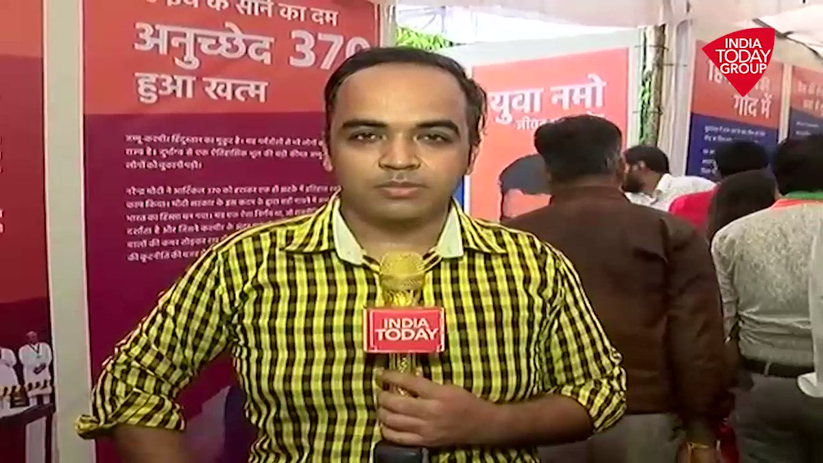 The BJP in Rajasthan has been celebrating September 17 birthday of PM @narendramodi as the Seva Saptah. To celebrate PM's birthday, the BJP has organised an exhibition in the party office on Narendra Modi's achievements as Prime Minister. #ReporterDiary (Dev Ankur Wadhawan)