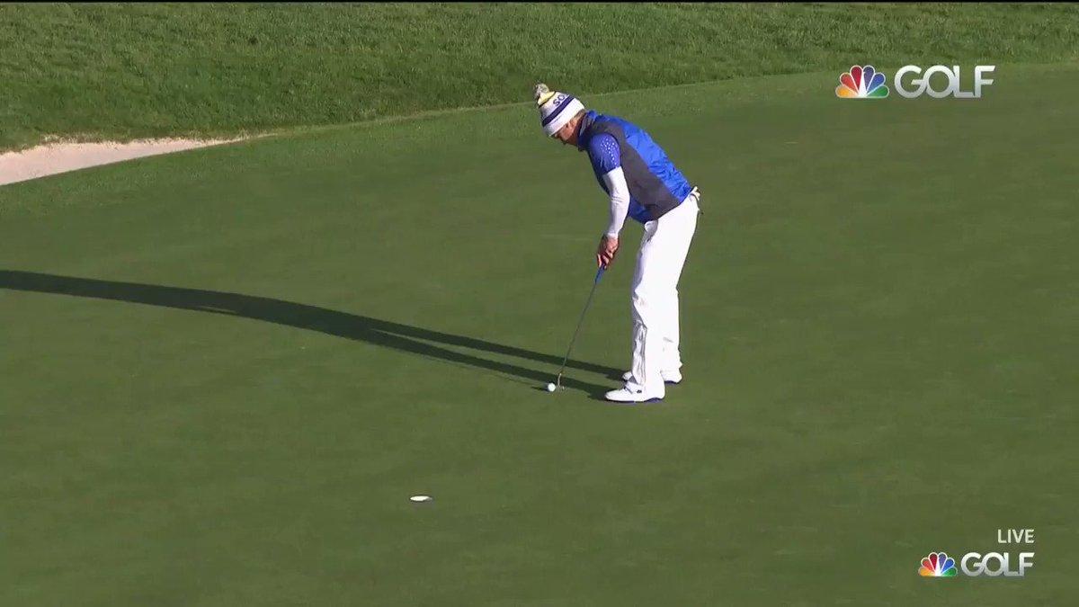 A golfer's dream: sinking a putt to win a tournament!