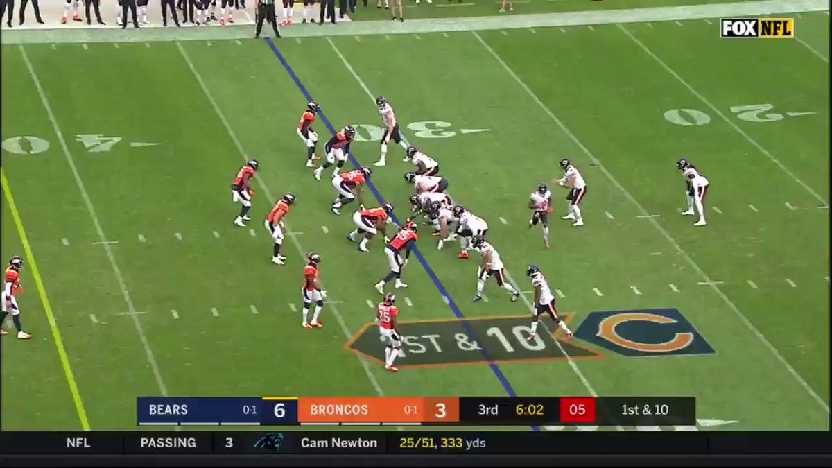 5 observations from rewatching the Bears' Week 2 win over the Broncos, including the stifled downfield passing game and the defense's goal-to-go stand