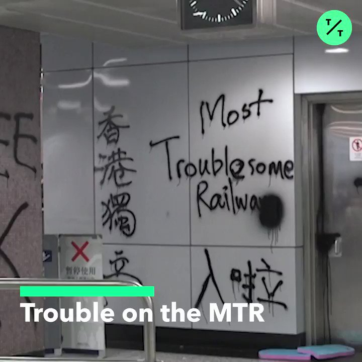 Hong Kongs renowned MTR subway is now in crisis after repeated attacks during ongoing #antiELAB #HongKongProtests. #香港 Read more @business: bloom.bg/2lS1sZV
