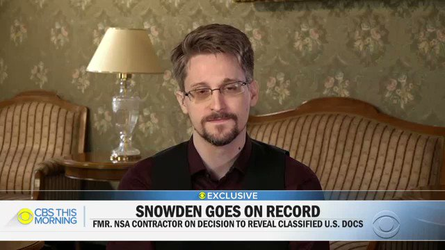 """""""Did I break the law? Again, what's the question that's more important here? Was the law broken or was that the right thing to do?"""" -- Edward @Snowden on revealing classified U.S. docs"""