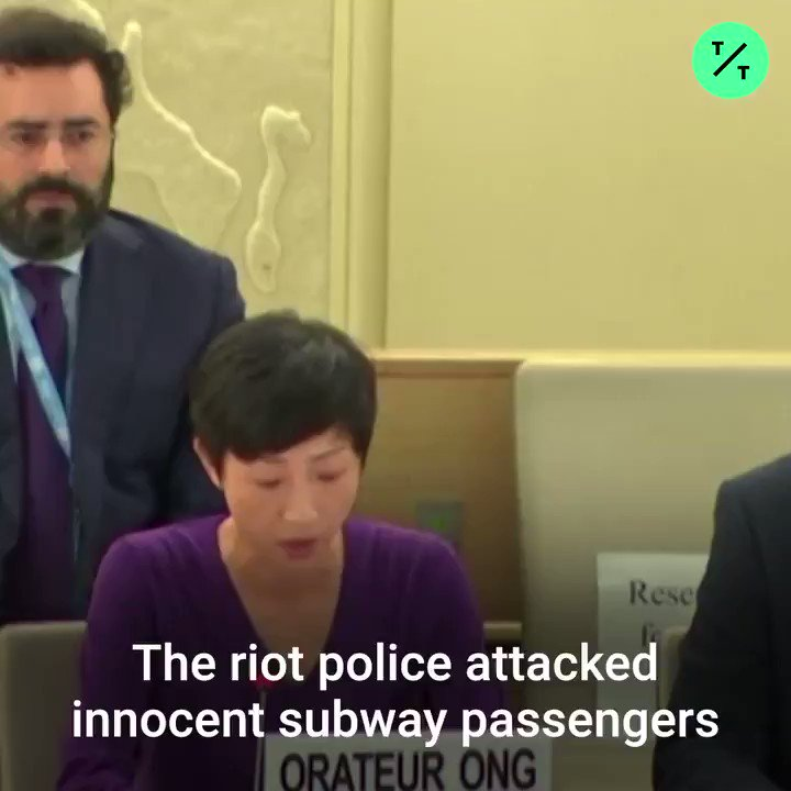 On the 100th day of the #HongKongProtests, lawmaker Tanya Chan appealed to the UN to probe brutal crackdowns and preemptive violence by police: Why is China sitting here, as a member of this Human Rights Council?
