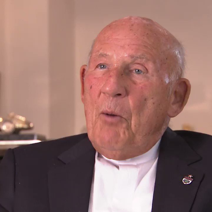 """🗣""""If Lewis wins a race, he has got to go and speak to his sponsors. If I won a race, I'd go and chase the girls!""""  On his 90th birthday, check out one of our favourite lines from the legend Sir Stirling Moss!😂"""