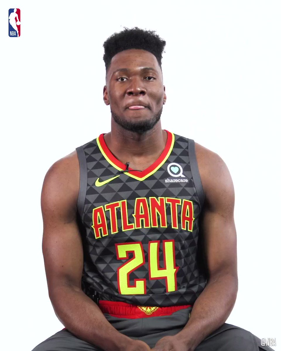 """▪ Ready for all 2⃣9⃣ teams  ▪ """"Keep doing the things you're doing...you're going to be great!"""" 🗣   Get to know @ATLHawks rook @BrunoFernandoMV for #NBARookieWeek! #NBARooks"""