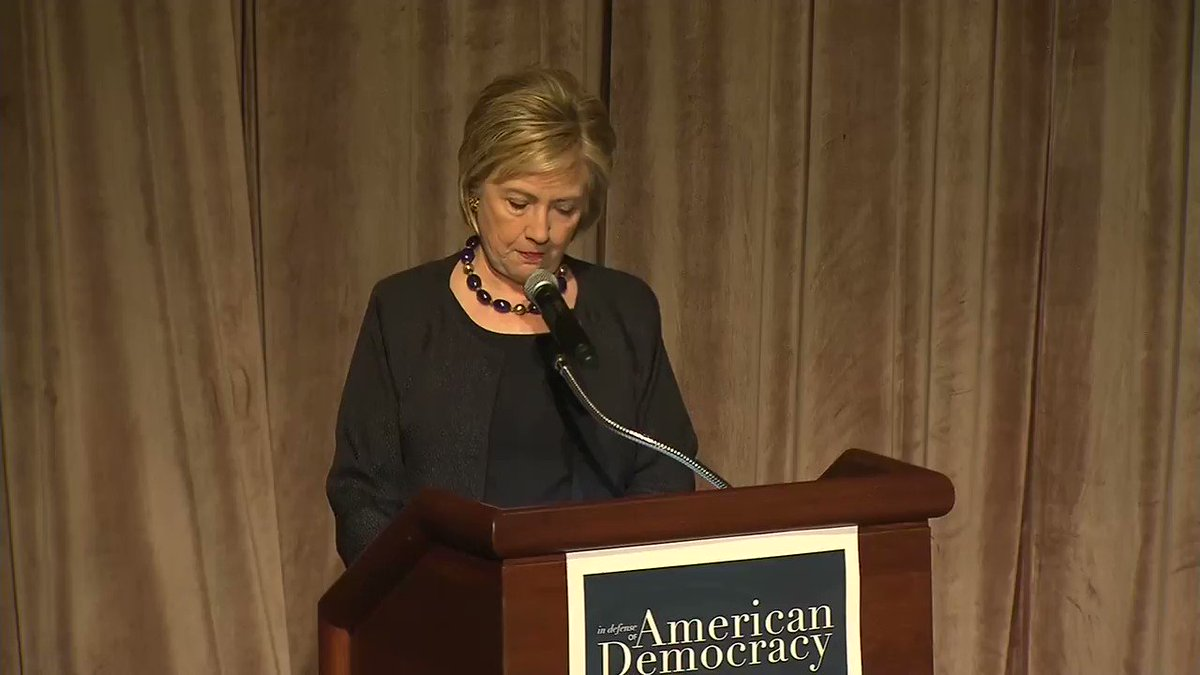 "Hillary Clinton: ""Voter purging is another form of voter suppression. Between 2012, when President Obama ran, and 2016, when I ran, 12 million -- 12 million voters -- were purged from the rolls."" https://t.co/2Hs4uSgkoW https://t.co/FFjR7oeDUm"