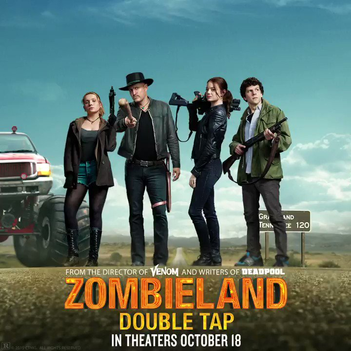 In one month, they're back for the double tap. #Zombieland in theaters October 18.