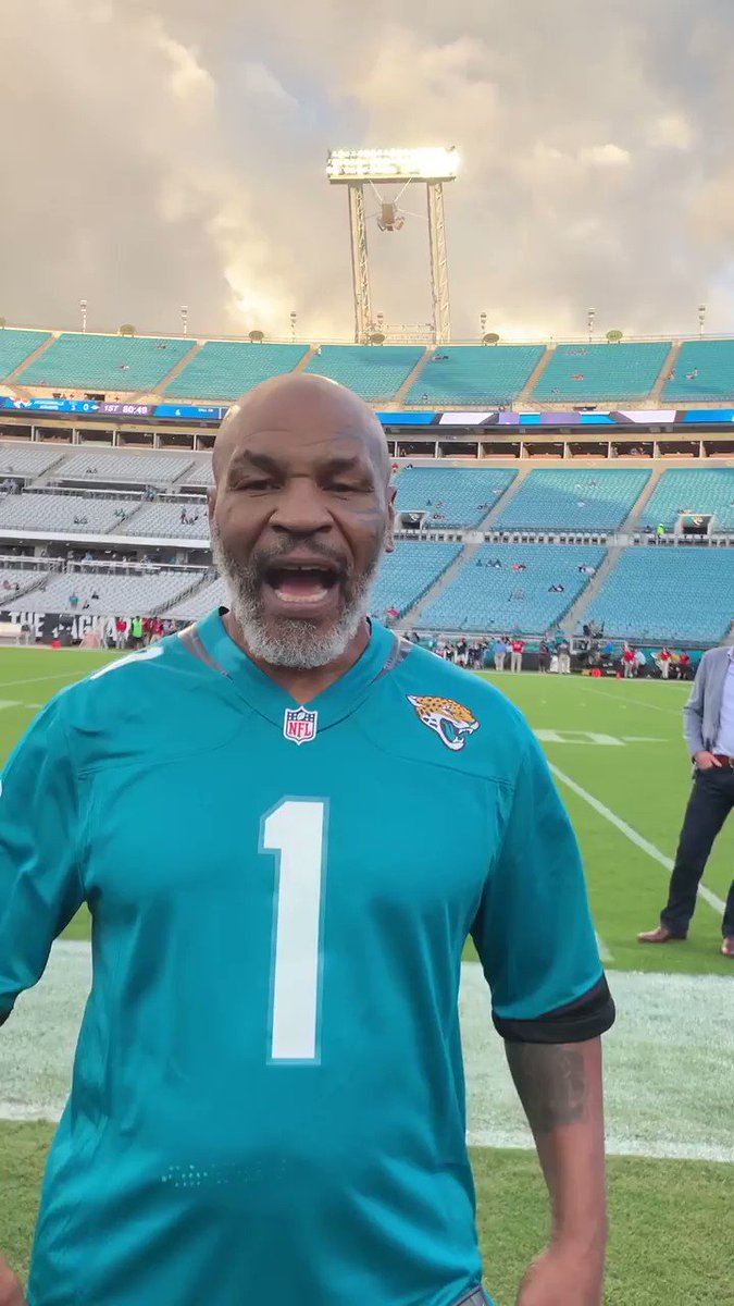 Video: Mike Tyson Is Ready For Tonight's Titans-Jaguars Game