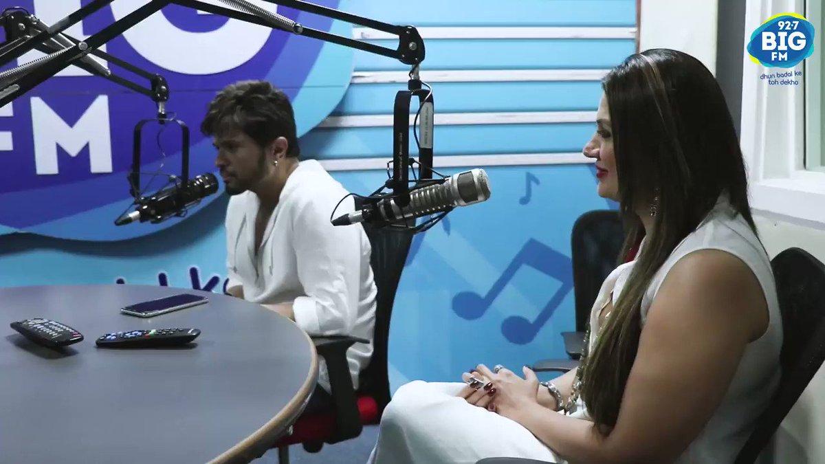"#HimeshReshammiya talks about the origin of the song ""Teri Meri"" with @rjrani927bigfm"