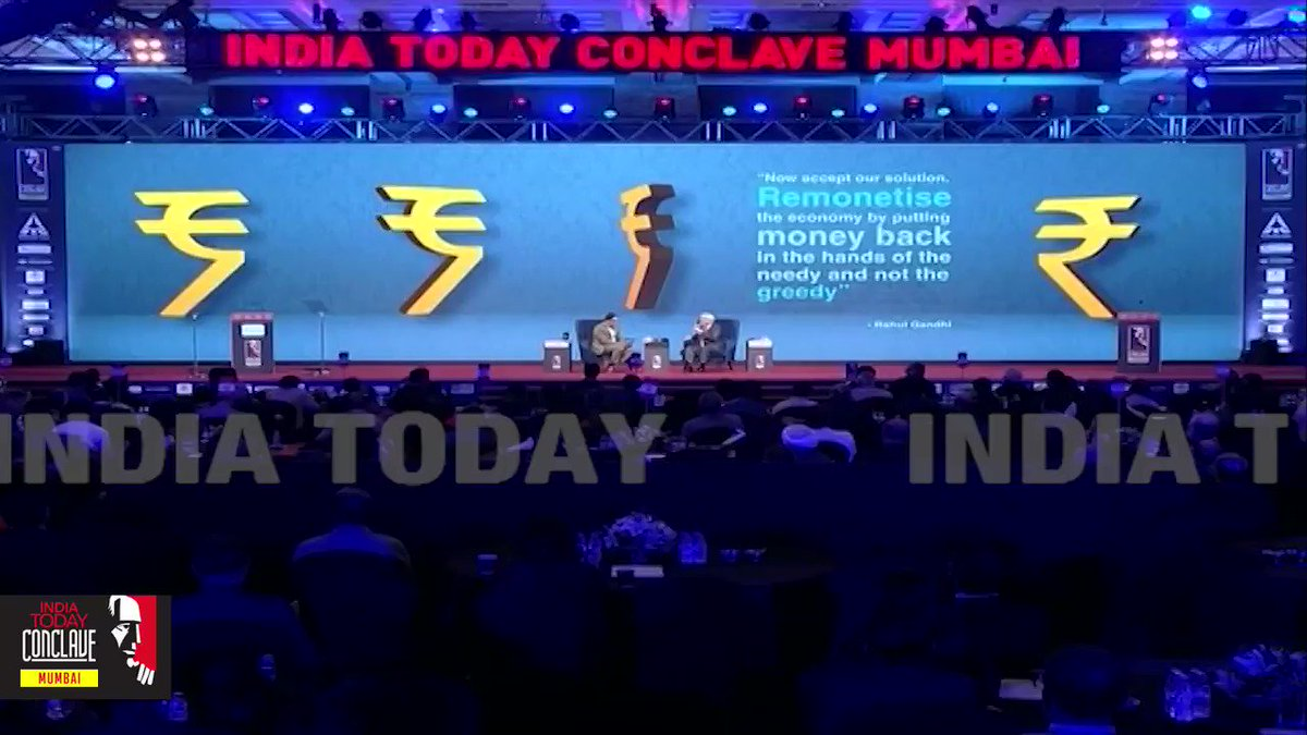 """#ConclaveMumbai19RBI Governor #ShaktikantaDas praised the government for its """"bold"""" move to slash #corporatetax rates in a bid to boost the ailing Indian economy.Watch full session with @rahulkanwal : https://bit.ly/2kpe6za"""