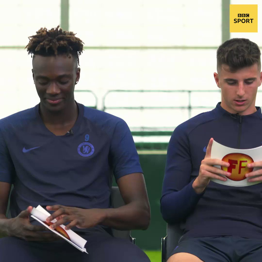 """""""Leave Spider-Man alone!"""" 😂😂Tammy Abraham and Mason Mount play Honesty Cards.Watch the full clip on Football Focus, Saturday at 12:00 BST @BBCOne#ChelseaFC #CFC #bbcfootball #Chelsea"""