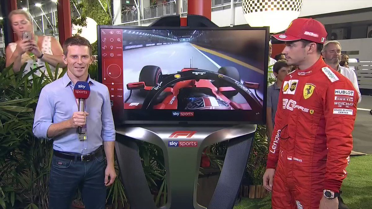 "🗣️ ""Every pole feels amazing but especially here, nobody expected it. Even us, we did not expect to be on pole today.""  Who better to bring to the SkyPad tonight than Charles Leclerc 🙌  @AntDavidson analyses the #SingaporeGP pole lap with the in-form Ferrari star himself  #SkyF1"