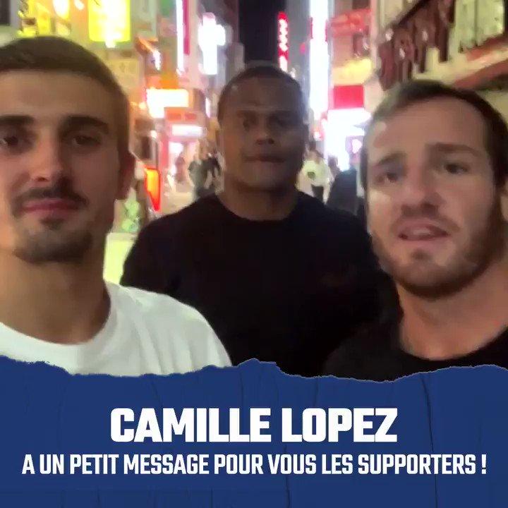 📣 Avant daller vous coucher, @Lopezcamille64, @ThomRamos15 et @vvakatawa ont un petit message pour vous !😘#NeFaisonsXV #RWC2019 #FRAvARG #XVdeFrance